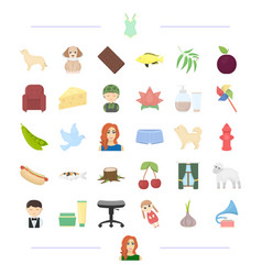 Animal profession food and other web icon in vector