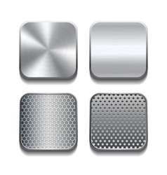 Apps metal icon set vector image vector image