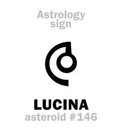 Astrology asteroid lucina vector