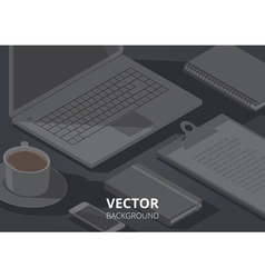 Background office object a4 horizontal vector