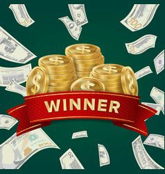 big win billboard for casino winner sign jackpot vector image