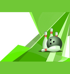 bowling background vector image