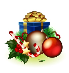 bright christmas vector image