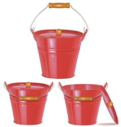 bucket red vector image