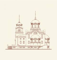 Cathedral religion building vector