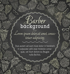 Chalk background of fashion man beards and vector