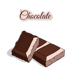 Chocolate Isolated On White vector image