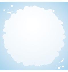 Cloud cirular border background vector