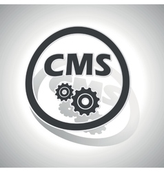 CMS settings sign sticker curved vector