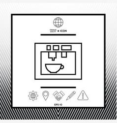 Coffee machine coffee maker linear icon vector
