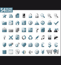 Cold gray web icons web icons vector