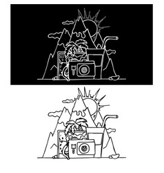 collage on the theme of travt vector image