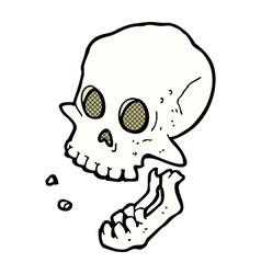 Comic cartoon laughing skull vector