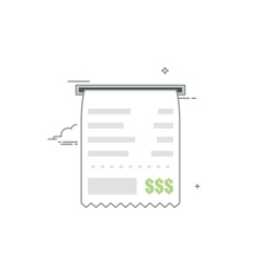Concept check icon with a list of goods or vector