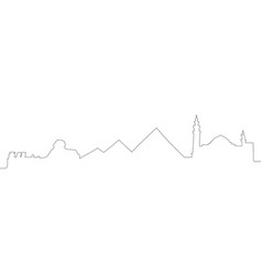 Continous line skyline of cairo vector