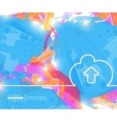 Creative cloud Art template vector image