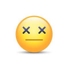 dizzy emoji face cross eyes emoticon icon sad vector image