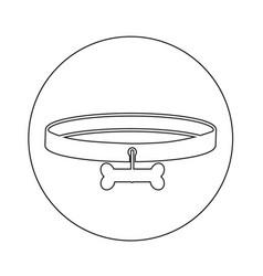 Dog collar icon design vector