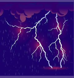 Downpour with thunderstorm vector