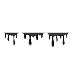 drip paint 3d set ink stain drop melt liquid vector image
