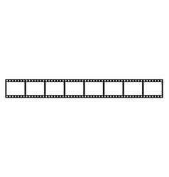 eight empty frames 35 mm film strip vector image