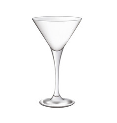 empty cocktail glass vector image