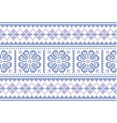 Fair isle christmas seamless pattern vector