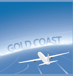 Gold coast flight destination vector