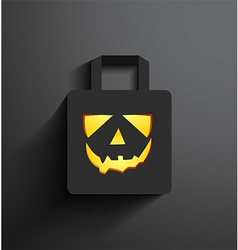 halloween sale shopping bag vector image