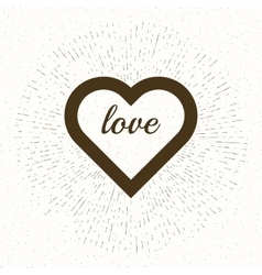heart and rays for t-shirt apparel vector image