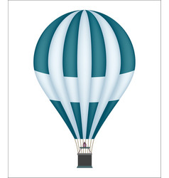 hot air balloon isolated icon vector image