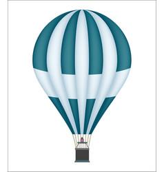 Hot air balloon isolated icon vector