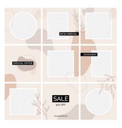 Instagram seamless posts templates vector