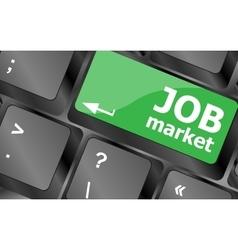 Job market key on the computer keyboard Keyboard vector image