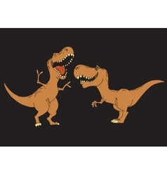 Kids dinosaurs are smiling vector image