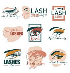 lash studio beauty salon for extension of vector image