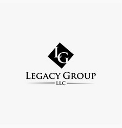 Letter lg logo icon template vector