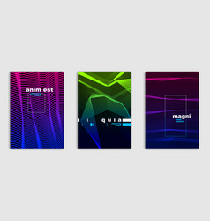 linear minimal trendy brochures set design cover vector image
