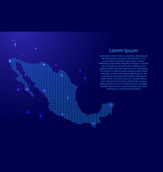 mexico map country abstract silhouette from wavy vector image