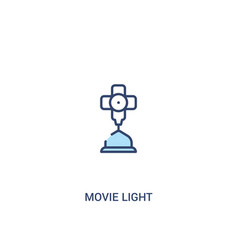 movie light concept 2 colored icon simple line vector image