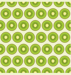 pattern with pieces kiwi vector image