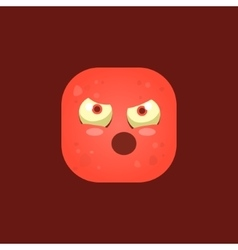 Pissed Off Red Monster Emoji Icon vector image