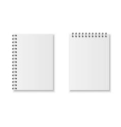 Realistic notebook set vector