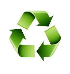 Recycle infographics vector image