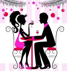 romantic dinner vector image