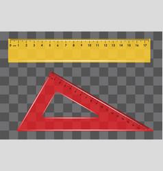 ruler set square on transparent background vector image
