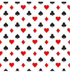 seamless pattern background of poker suits vector image