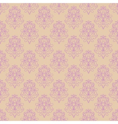 seamless pattern with decorative flowers - irises vector image