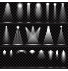 Set of scene illuminations transparent effects vector