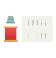 sewing tools icon flat isolated vector image